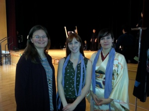 Our 3 volunteers for the festival.   They were sooooo much help and it's always a good time getting to hang out with other kimono enthusiasts.